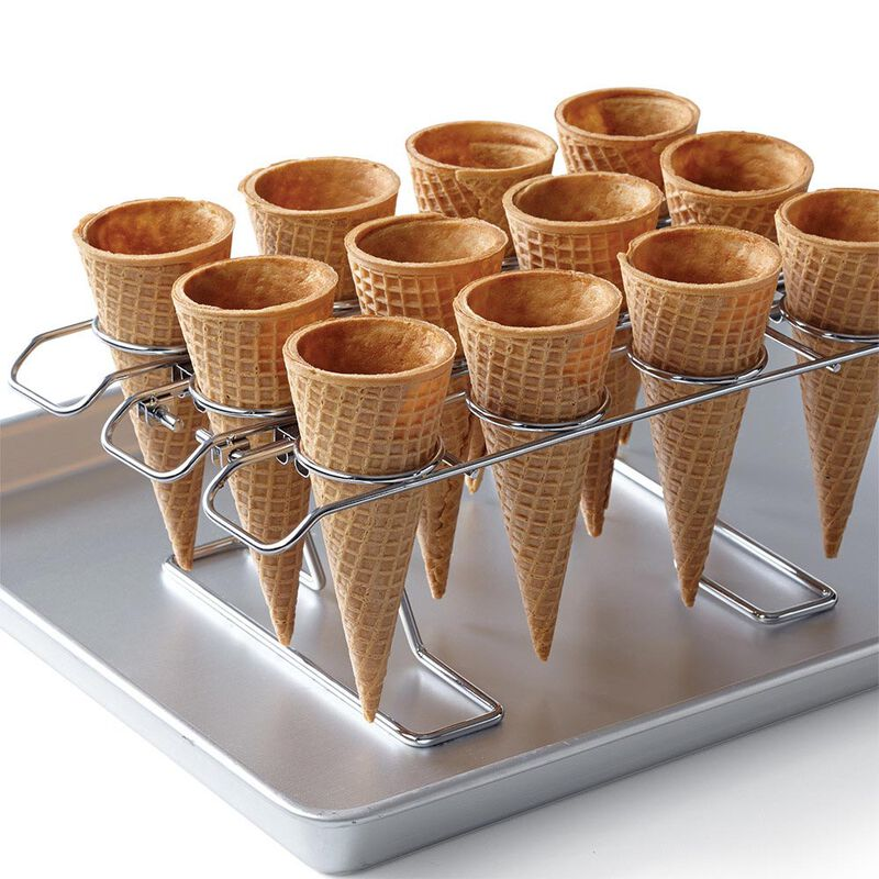 Ice Cream Cone Cupcakes Decorating Kit, 26-Piece - Decorating Bags, Sprinkles, Cupcake Cone Baking Rack image number 2