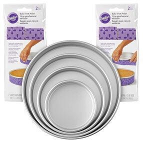 Bake-Even Strips and Cake Pans Set, 8-Piece