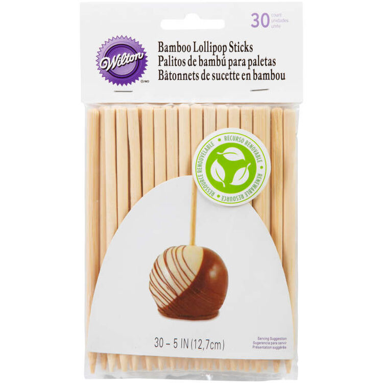 5-Inch Bamboo Lollipop Sticks, 20-Count