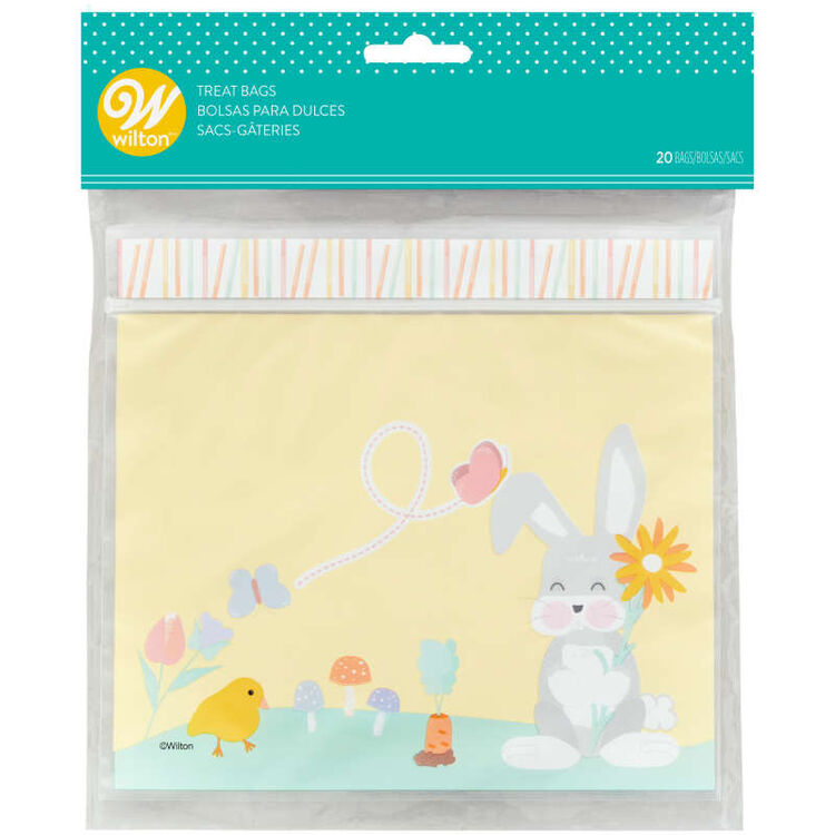 Easter Bunny Resealable Treat Bags, 20-Count