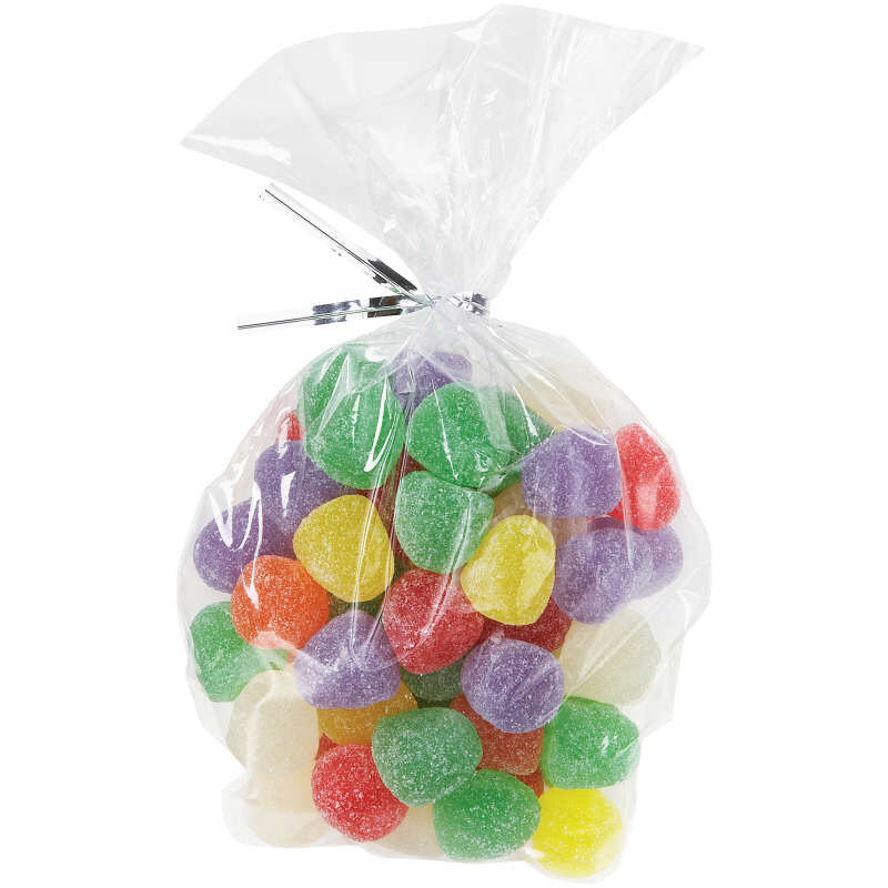 Oval Clear Treat Bags Filled with Gummy Candies image number 4
