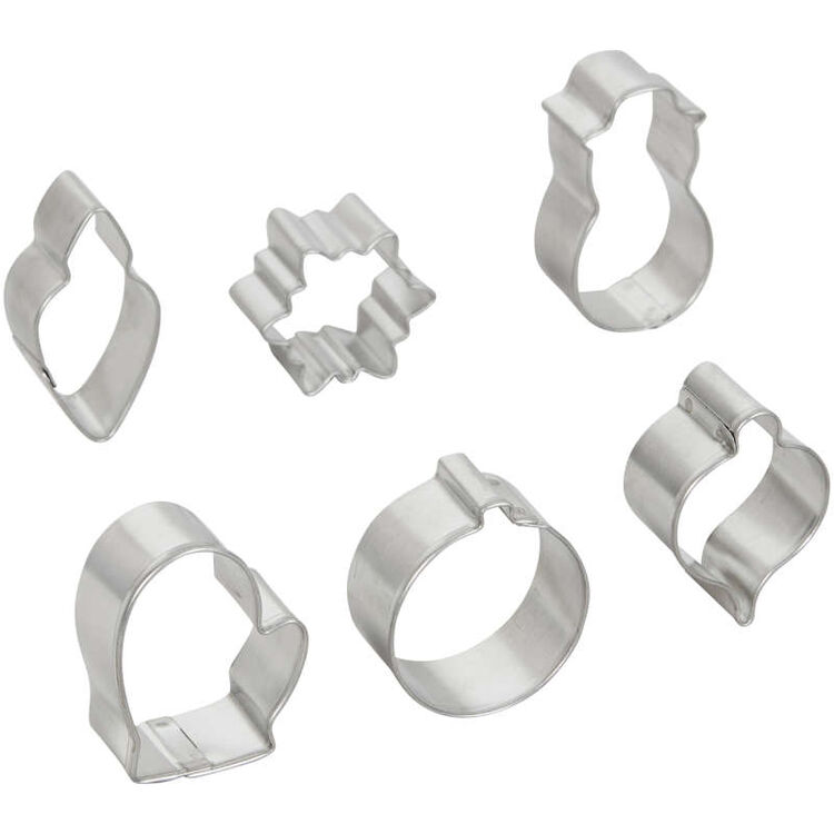 Mini Christmas Cookie Cutter Set, 6-Piece