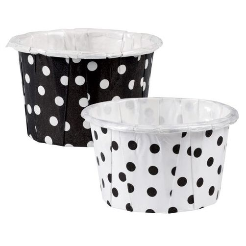 Black White Dot Mini Nut Cup