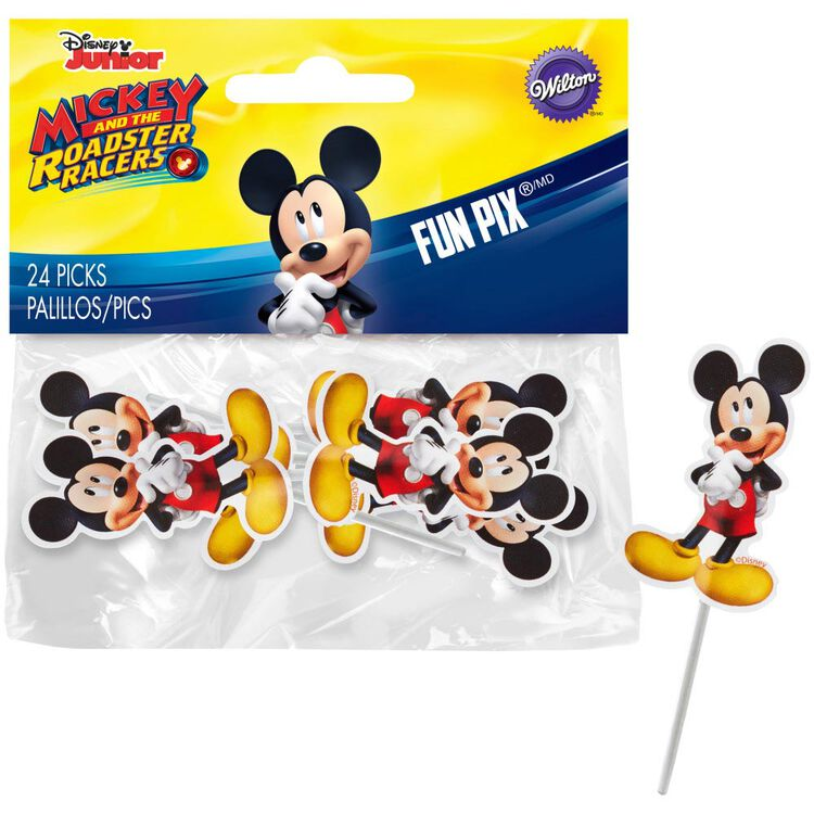 Mickey and The Roadster Racers Birthday Cupcakes Party Pack, 8-Piece