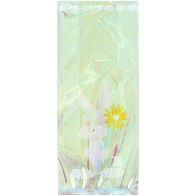 Iridescent Easter Bunny Treat Bags, 10-Count