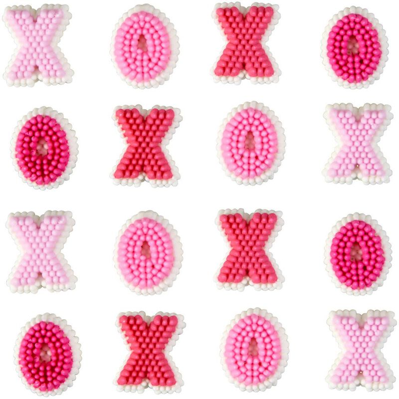 X's and O's Icing Decorations, 24-Count image number 0