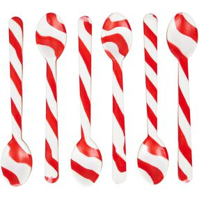 Peppermint Candy Cane Spoons