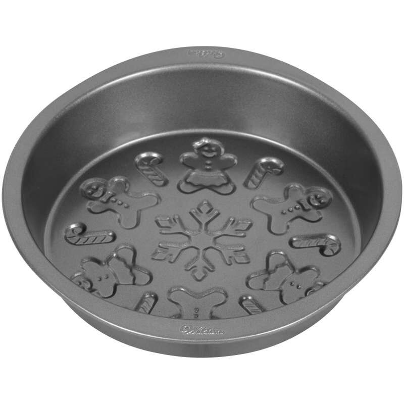 Round Embossed Christmas Cake Pan, 9-Inch image number 2