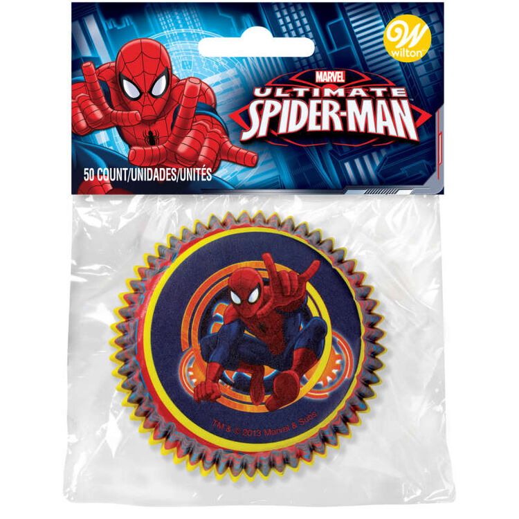 Marvel Ultimate Spider-Man Standard Cupcake Liners, 50-Count
