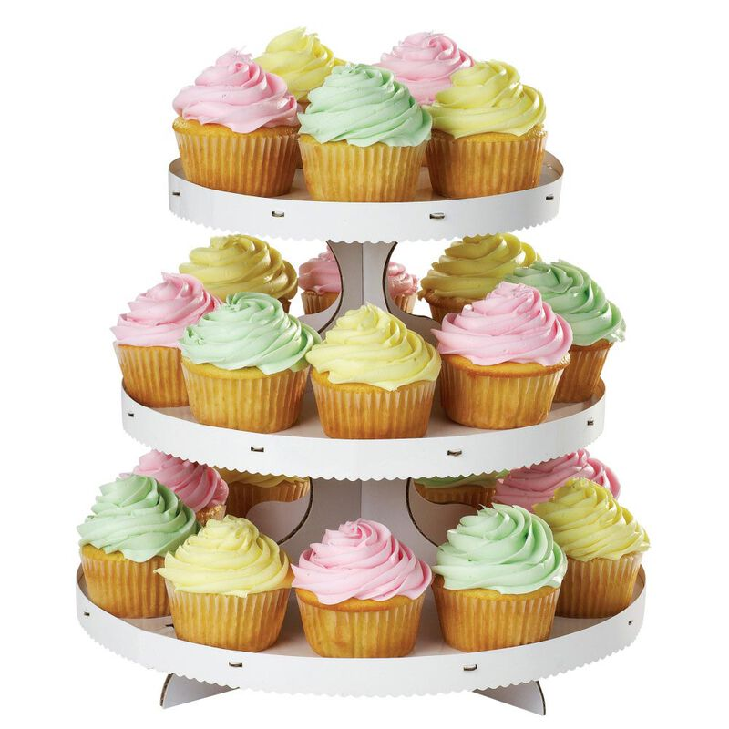 3-Tier Cupcake Stand, White image number 0