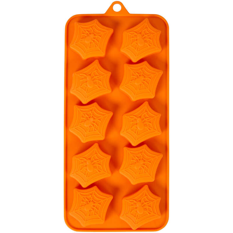 Halloween Spider Web Silicone Treat Mold, 12-Cavity image number 2