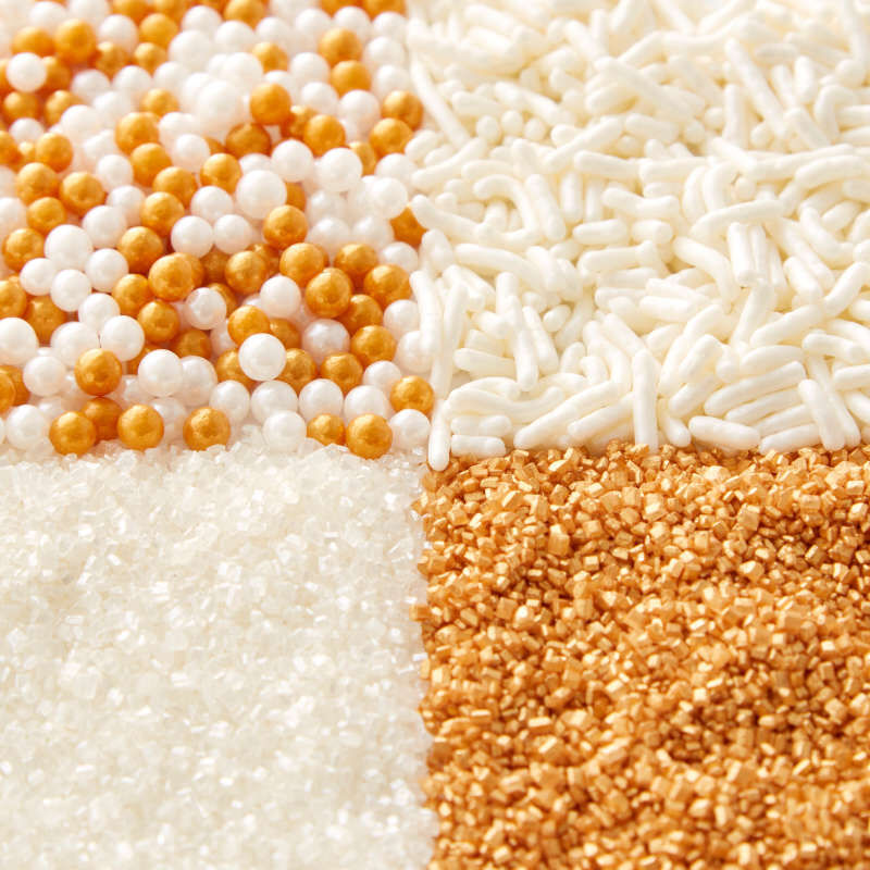 4-Cell Pearlized Gold Sprinkles Mix, 3.8 oz. image number 3