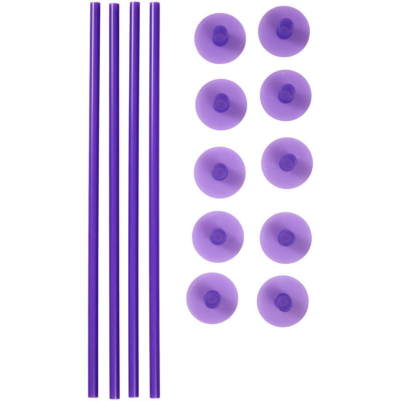 Plastic Support Rods and Caps, 14-Piece image number 0