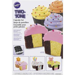 Two-Tone Cupcake Pan Set