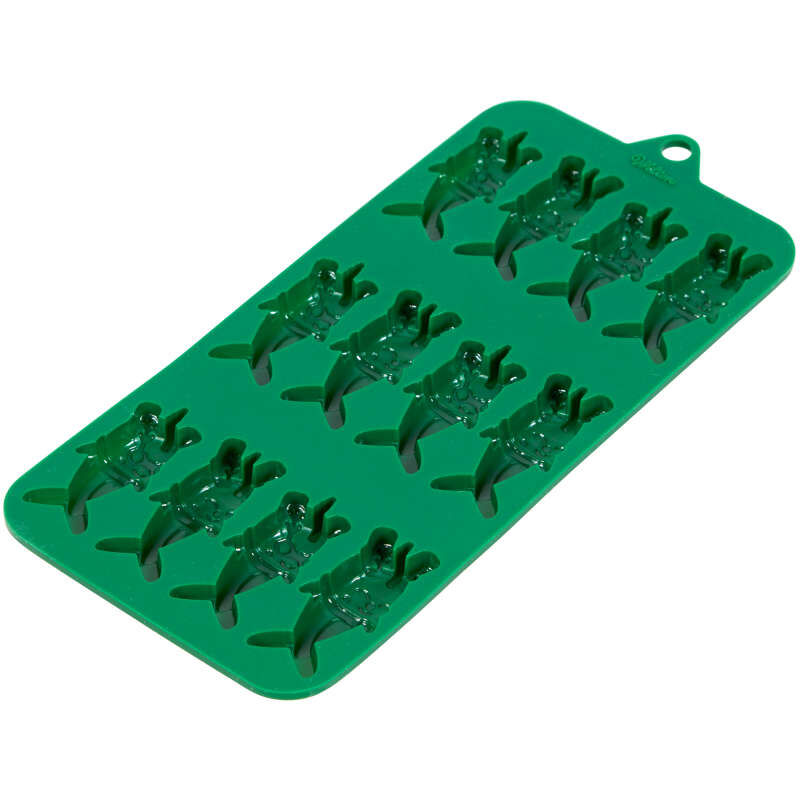 Christmas Narwhals Silicone Candy Mold, 12-Cavity image number 2
