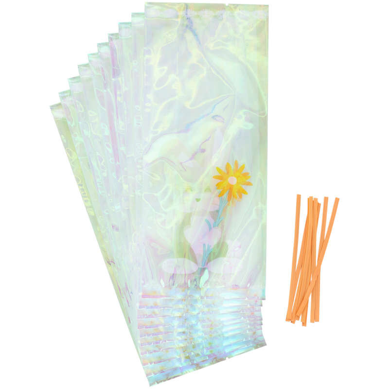 Iridescent Easter Bunny Treat Bags, 10-Count image number 0