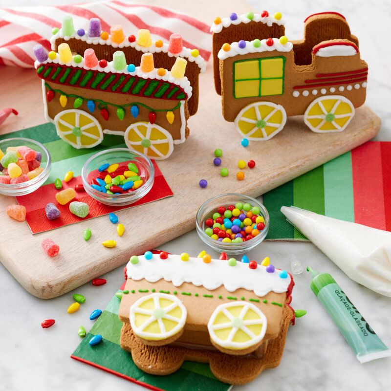 Build it Yourself Christmas Express Gingerbread Train Decorating Kit image number 3