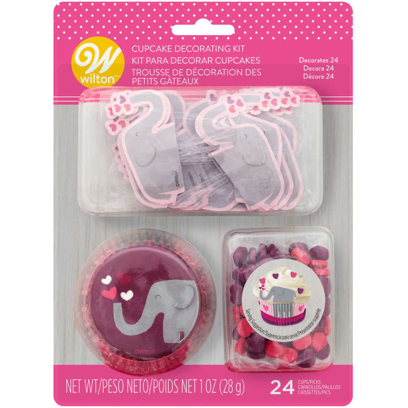 Valentine's Day Elephant Cupcake Decorating Kit image number 1