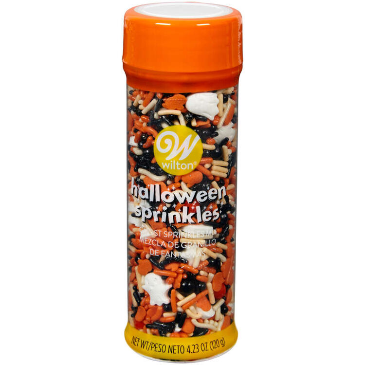 Ghost and Pumpkin Mix Sprinkles, 4.23 oz.