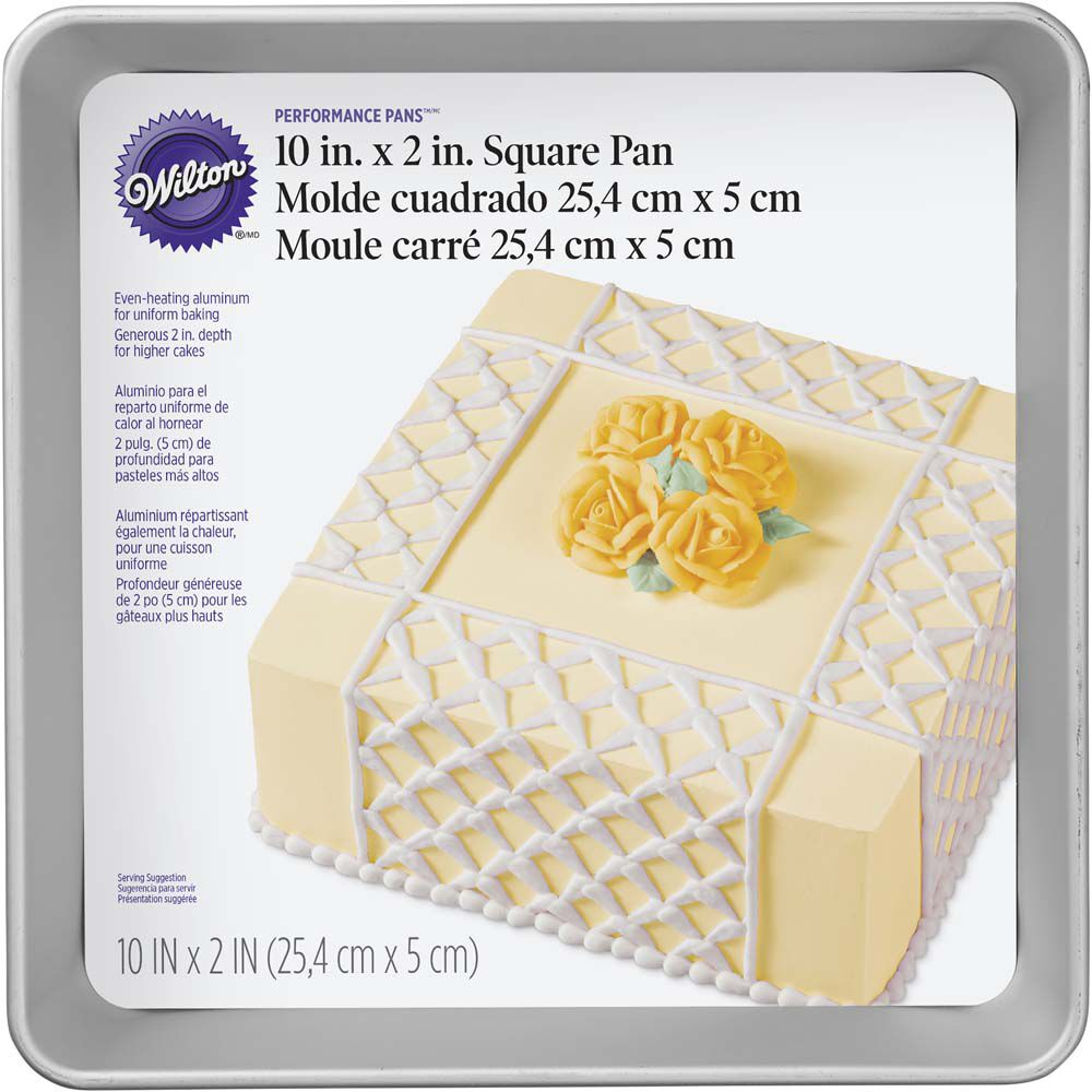square cake pans for wedding cakes performance pans 10 quot square cake pan wilton 20354
