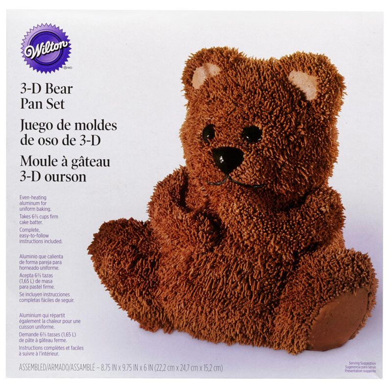 Teddy Bear 3D Cake Pan Set, 2-Piece image number 1