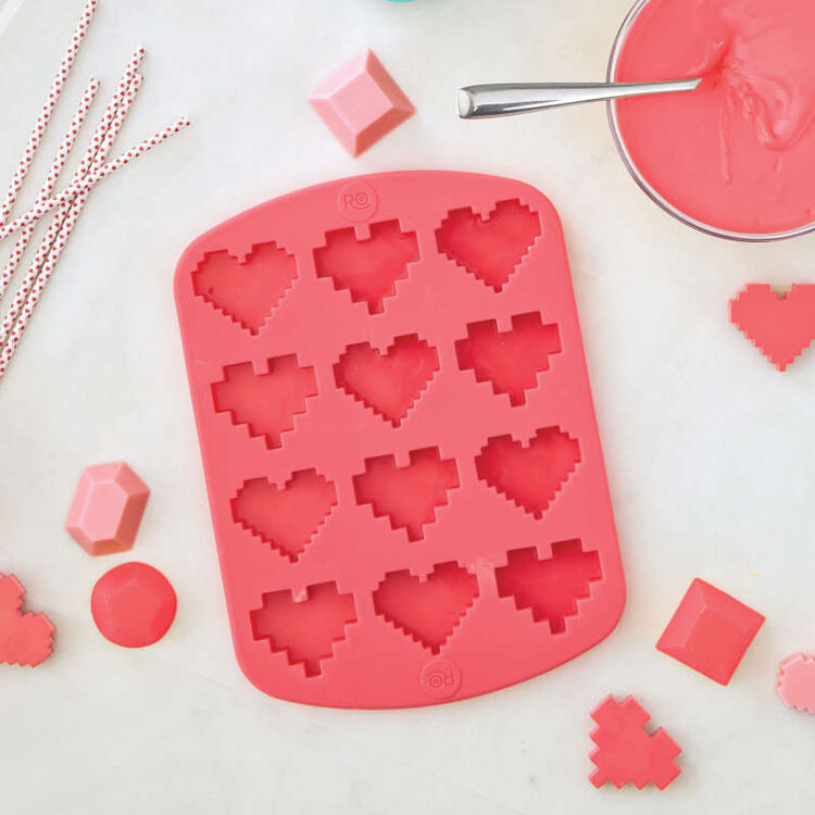 ROSANNA PANSINO by Silicone Candy Heart Mold, 12-Cavity