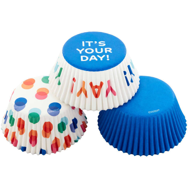 Blue, Polka Dot and It's Your Day Baking Cups, 75-Count image number 2