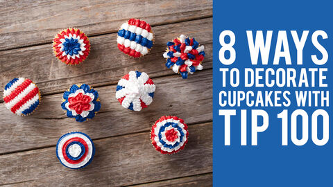 8 Ways to Decorate Cupcakes with Tip 100