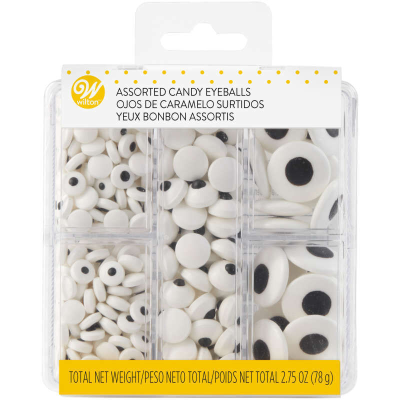 Edible Black and White Candy Eyeball Sprinkles, 2.75 oz. image number 2