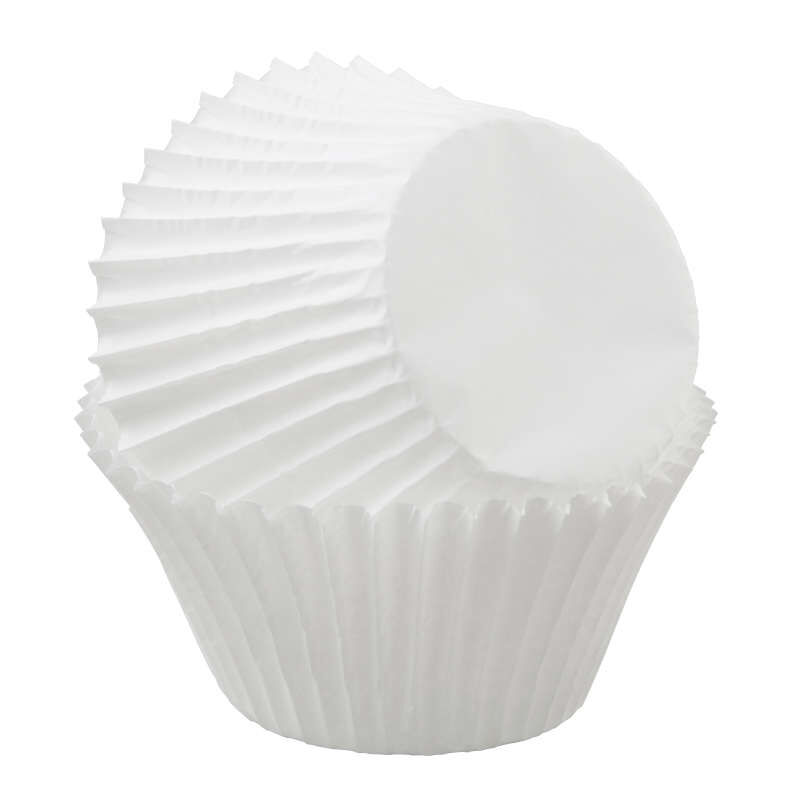 Jumbo White Cupcake Liners, 50-Count image number 1