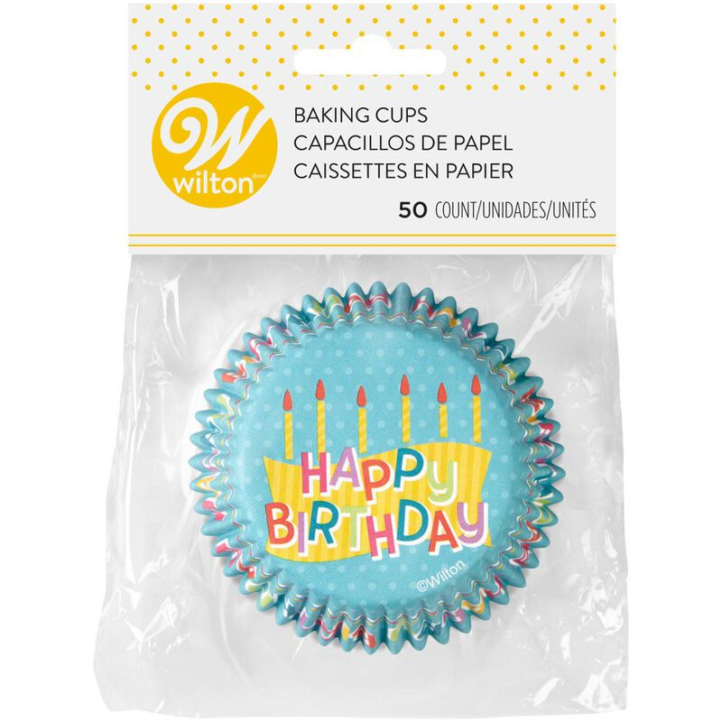 Happy Birthday Cupcake Liners, 50-Count image number 1