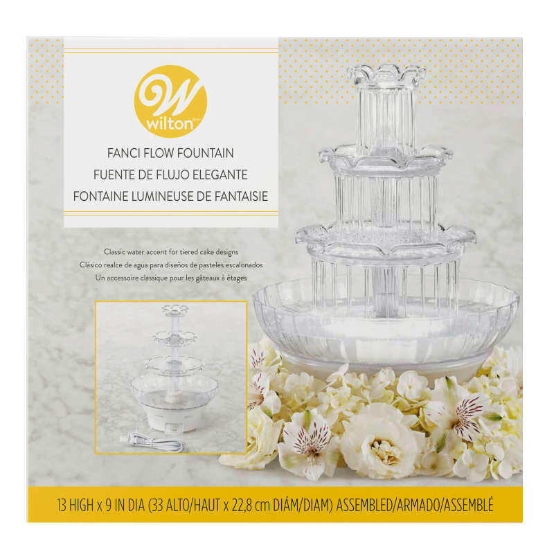Fanci Flow Tabletop Fountain - Wedding Cake Fountain image number 1