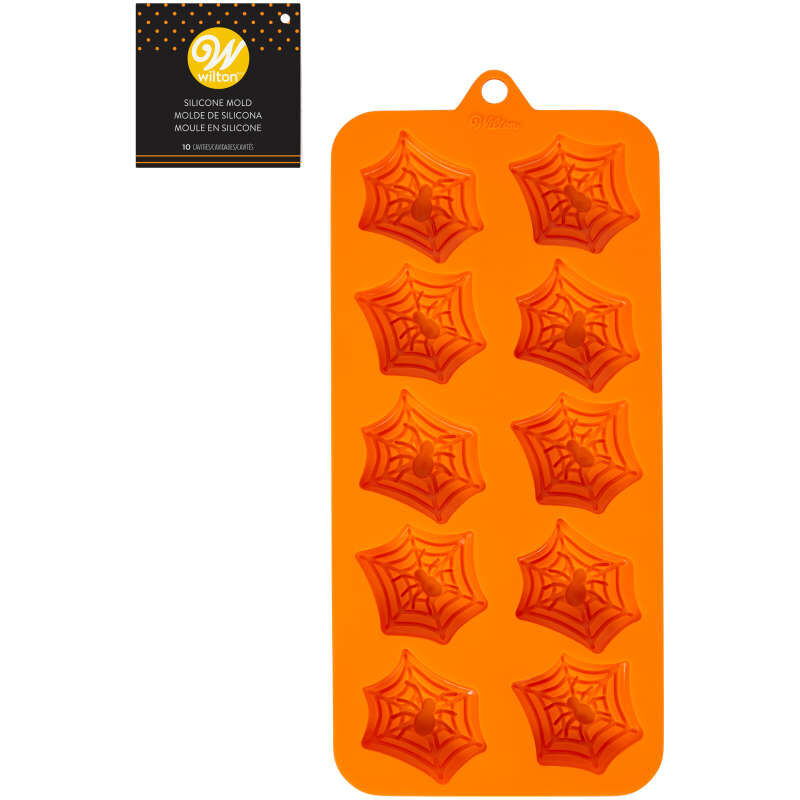 Halloween Spider Web Silicone Treat Mold, 12-Cavity image number 1