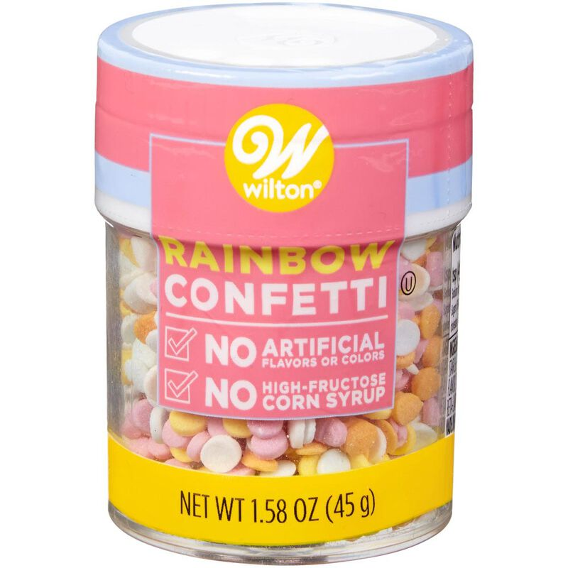 Naturally Flavored Rainbow Confetti Sprinkles, 1.58 oz. image number 0