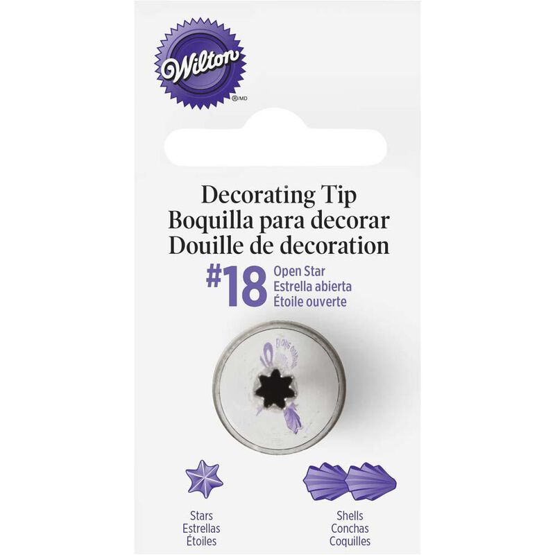 Wilton No. 18 Open Star Decorating Tip image number 0