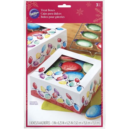 Christmas Lights Cookie Boxes