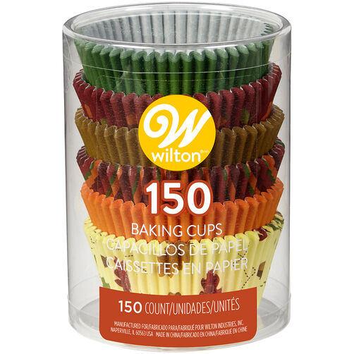 Fall Designs Cupcake Liners, 150-Count
