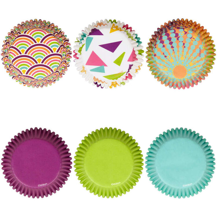 Assorted Colors and Patterns Cupcake Liners, 150-Count