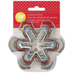Snowflake Cookie Cutter Set, 3-Piece