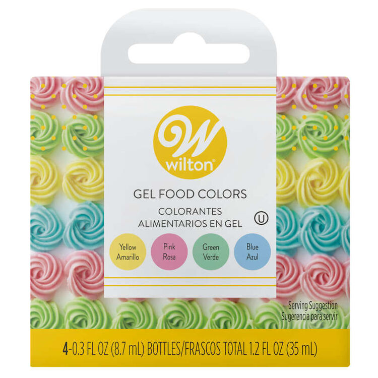 Pastel Gel Food Color Set In Packaging
