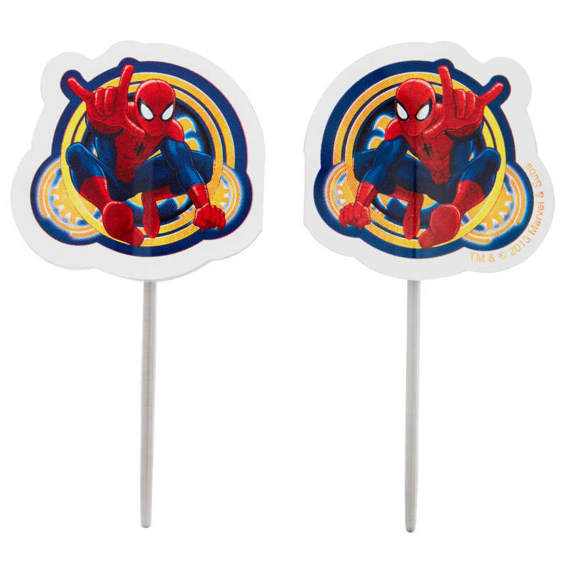 Marvel Ultimate Spider-Man Cupcake Toppers, 24-Count image number 0