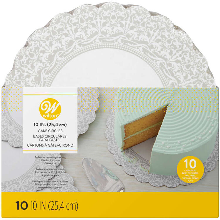 Scalloped Lace Cake Circles in Packaging