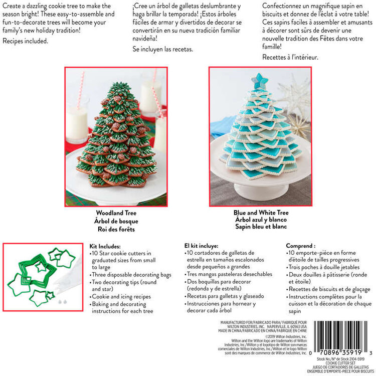 Christmas Cookie Tree Cutter Kit, 15-Piece