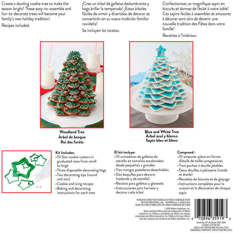 Christmas Cookie Tree Cutter Kit, 15-Piece image number 2