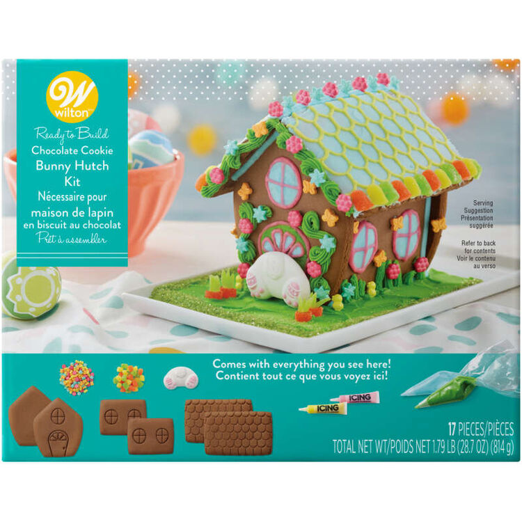 Ready-to-Build Chocolate Cookie Bunny Hutch Kit