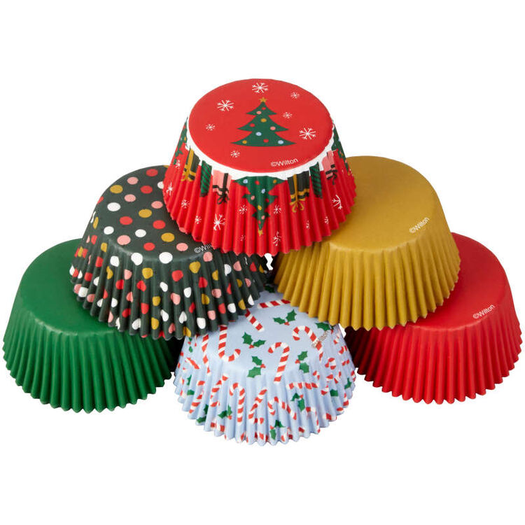 Holiday Cupcake Liners, 150-Count