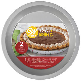 Bake and Bring Holiday Print 8.5-Inch Non-Stick Pie Pans, 2-Count