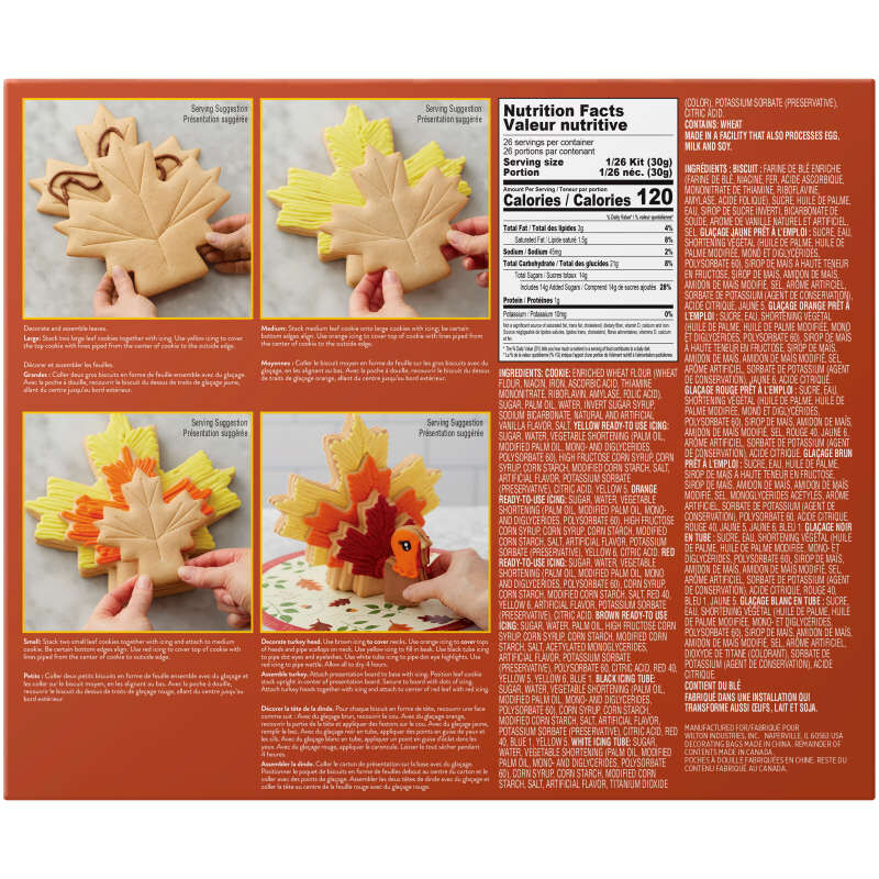 Build It Yourself Turkey Centerpiece Vanilla Cookie Decorating Kit image number 1