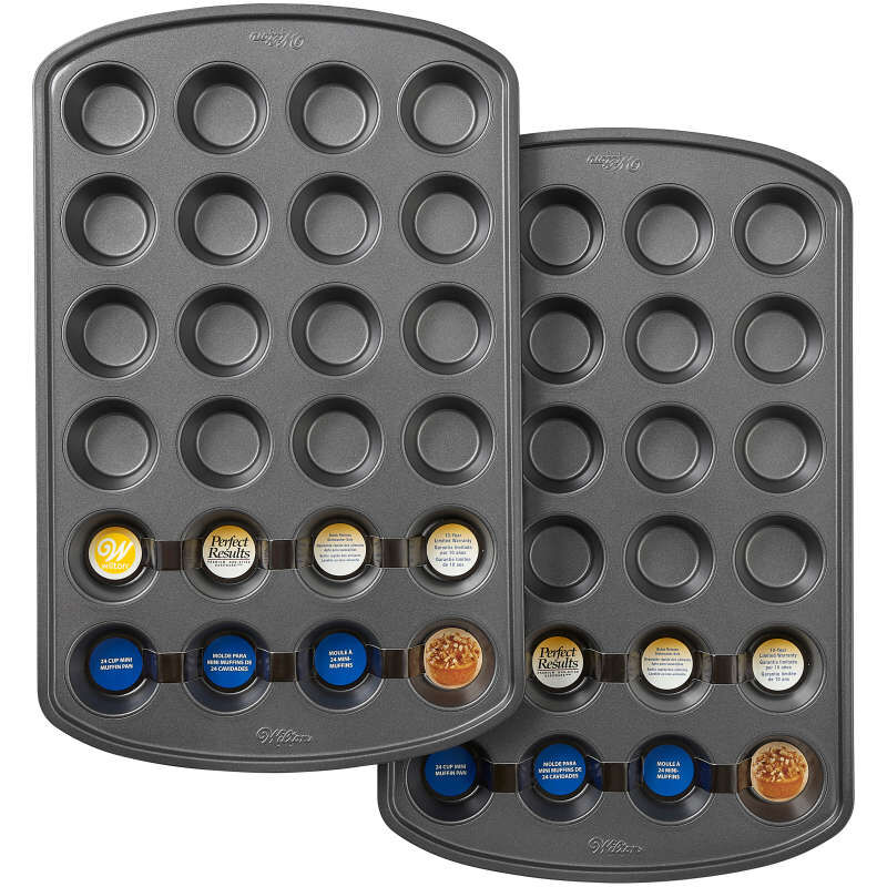 Perfect Results Premium Non-Stick Bakeware 24-Cup Mini Muffin Pan, Multipack of 2 image number 1