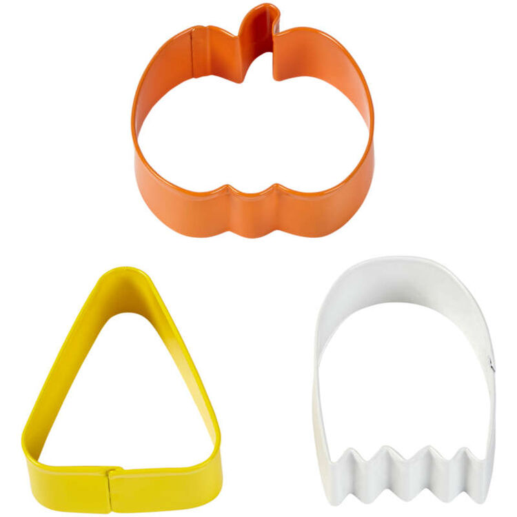 Pumpkin, Ghost and Candy Corn Cookie Cutter Set, 3-Piece
